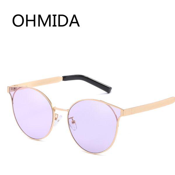vente en gros mode cat eye lunettes de soleil femmes rondes lentille violet lunettes de soleil vintage pour les femmes en miroir marques lunettes de soleil Shades UV400