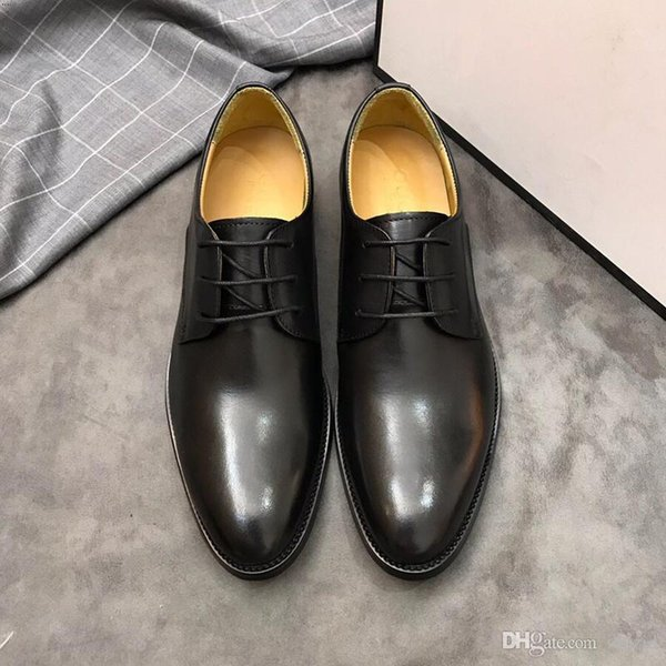 2018 17 Style Italian Luxury Designer leather dress shoes Top Leather wedding party men shoes suede fashion loafers heel shoes size 38-45