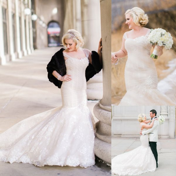 Gorgeous Mermaid Croset Wedding Dresses Lace Appliques Straps Church Bridal Gowns Fish Tail Custom Made Plus Size Tight Garden Bride Dress