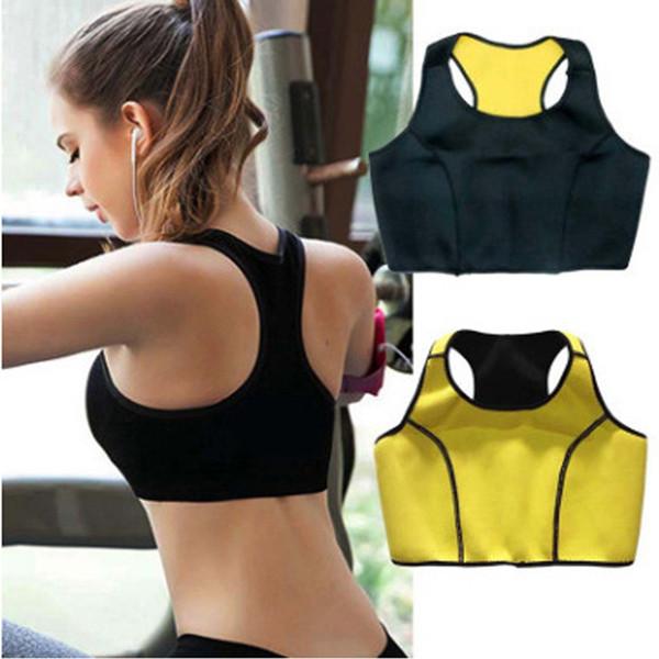 Aptitud de las mujeres Camisetas de neopreno que adelgaza de entrenamiento para deportes corsés gimnasio Body Shaper Body Cinchers ejecución corta Chalecos