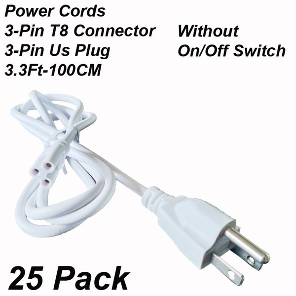 3.3Ft Power Cords Without Switch