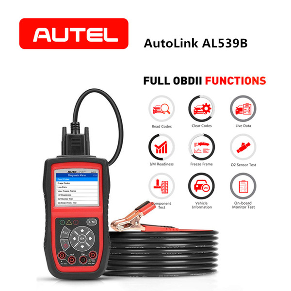 Autel AutoLink AL539B Full OBD2 Code Reader Avometer Battery Tester 3-in-1 for OBDII Diagnosis Scan Tool and Electrical Test