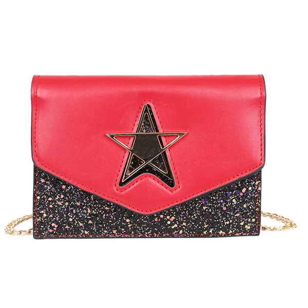 Women Bag Luxury Leather Handbags Retro Chain Shoulder Crossbody Bags For Women Star Map Diagonal Cross Small Square Bagl2
