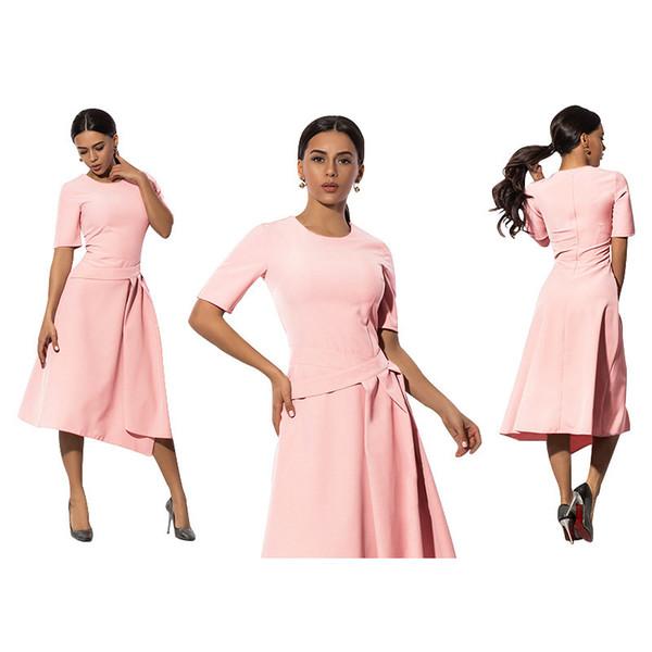 Hot Sale olid Color Will Code Dress Waist High Waist Irregular Skirt Pendulum amd the side 5xl