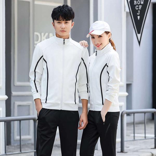 Sport Anzüge 2019 Herren- und Damenbekleidung Casual langärmelige Hoodie Track Jacket Tops 1-30
