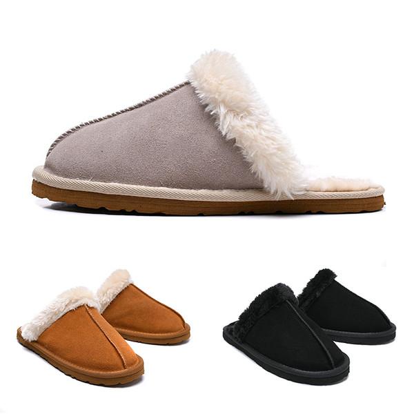 Alta qualità WGG Donne Slides invernale dal design di lusso coperta di pelliccia della ragazza di marca sandali caldi Pantofole Infradito Con Spike signora Sandal
