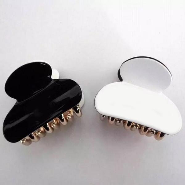 4.3X3.5CM materiale acrilico europeo e americano in bianco e nero materiale tridimensionale cattura piccoli accessori per capelli presa moda gioielli