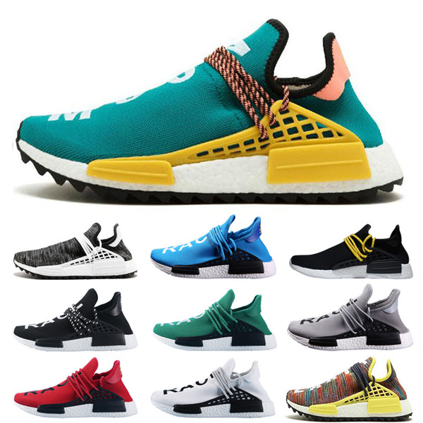 Acquista Adidas Pharrell Williams X NMD Human Race Trail 2019 Calda Nuova Designer NMD Human Race Pharrell Williams Campione Giallo Core Nero Da Uomo