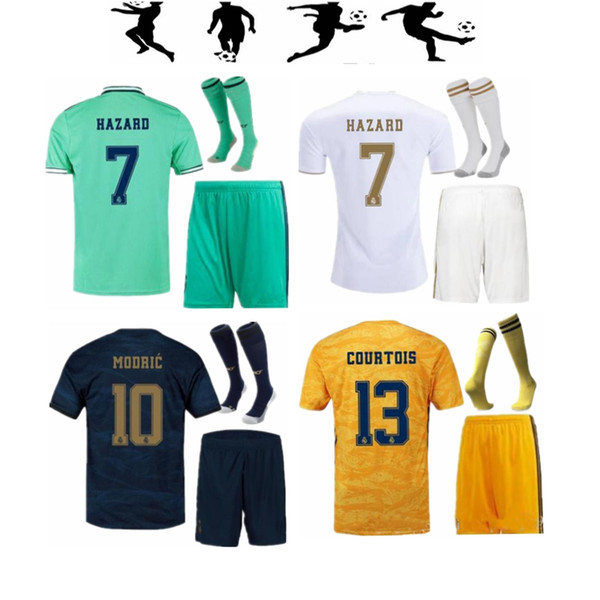 19 20 реальные мадрид взрослого комплект трикотажных изделий 2019 2020 вредности Camisetas Бензема ФУТБОЛ тюк третьего Jovic дом прочь мужчины набора вратарь футбольных рубашек