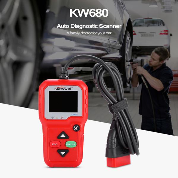 La voiture d'OBD II de lecteur de code de Konnwei KW680 PEUT auto DKONNWEI KW680 le scanner iagnostic obd2 de multiples langues l'outil de diagnostic KW 680 avec le cadeau gratuit