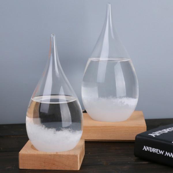 Novo Criativo ofícios de vidro 17.5 * 8 cm Gotas de Água Forma Tempestade de Vidro Previsão Do Tempo Garrafa de Artesanato De Natal Artes Presentes