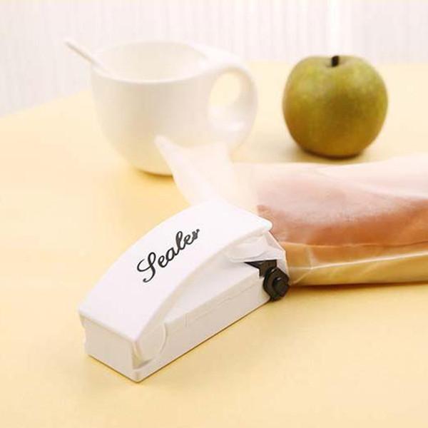 Mini bolso de la manija sellador electrónico sellado de la casa térmico de vacío Sellador del impulso de sello de embalaje ganchos de la bolsa de plástico Herramientas de la cocina