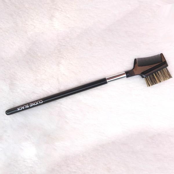 Makyaj fırçası ağaç saplı kaş çift amaçlı tarağı kaş fırçası kaş tarağı göz makyajı güzellik makyaj aracı