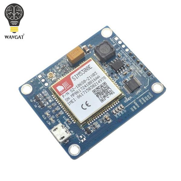 Freeshipping SIM5300E 3G module Development Board Quad-band GSM GPRS GPS SMS with PCB Antenna