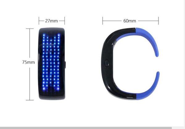 LED de pulsera de la palmada de luz brillante a la banda de muñeca con pantalla de visualización para el Festival de la barra del partido Correr Ciclismo Correr