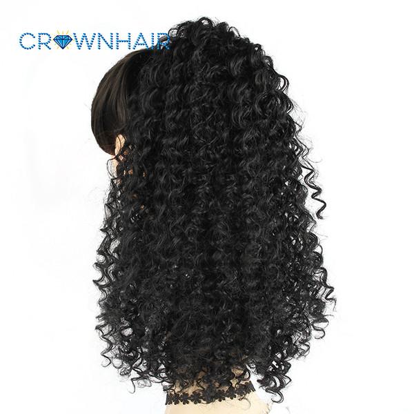 Cordón Puff Afro Kinky Curly Ponytail African American Short Wrap Clip sintético en Extensiones de cabello de cola de caballo