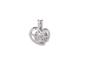 Monili della gabbia del medaglione di fascino delle donne del pendente del medaglione del cristallo di rocca all'ingrosso del progettista per la perla dell'ostrica di stile della miscela del regalo