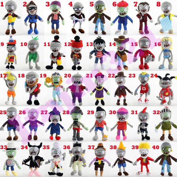 best selling 40 styles Vegetable plush Dolls 30cm Classic game dolls Zombie plush toys Cute simulation doll kids gift