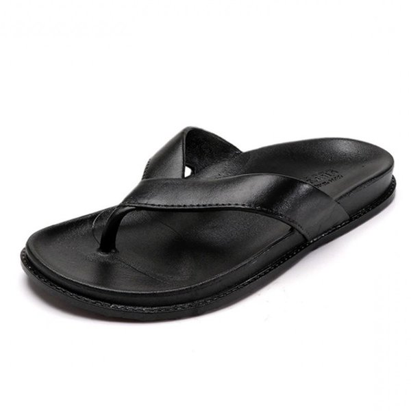 Couples Thick Sole Beach Slippers Womens Leather Flip Flops Women Platform Slippers Summer Woman Shoes Size 44 Ipanema Flip Flops