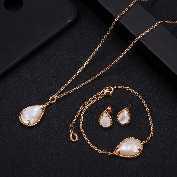 Janeklly Trendy Wedding Necklace Earrings For Women Accessories