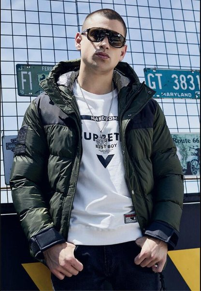 Hommes Veste Hommes d'hiver Manteau Marque Mode Parkas Contraste Casual Luxury trois couleurs disponibles Manteau d'hiver Taille asiatique Disponible L Pour 3XL # 2