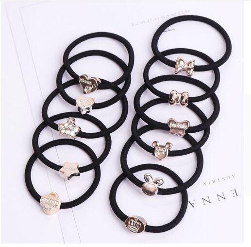 100PCS/Lot New Korean Hair Accessories For Women Black Elastic Hair Rubber Bands Girls Lovely Hair Ropes Ponytail Holder new