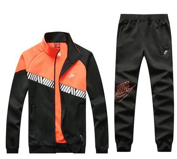 Venta caliente Sport Brand Men '; S Women'; S Chándales Raya lateral Chaquetas con capucha de manga larga Pantalones Jogger Ropa deportiva para hombres Nuevo