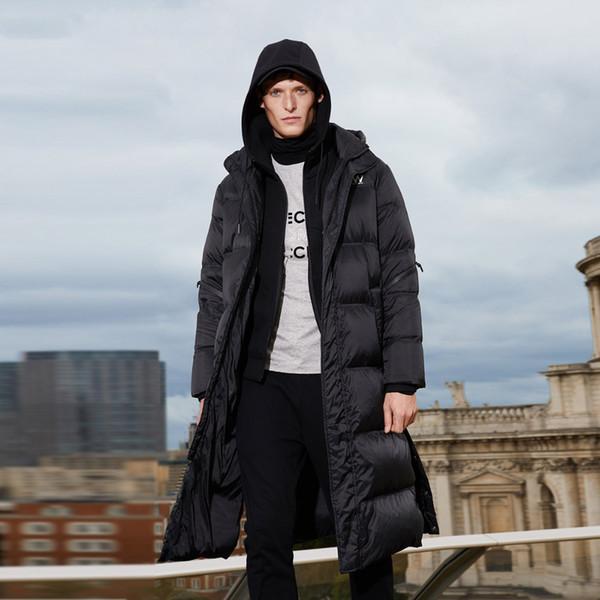Men's Winter Long Hooded Duck Outdoors Outerwear Winter Male Casual fashion down jacket Coat Menswear
