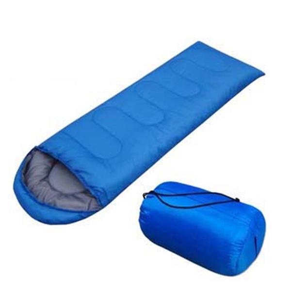 210 * 75 cm Ultralight Zarf Şekli Açık Kamp Uyku Tulumu Su Geçirmez Sırt Çantası Kap Çantası ile Seyahat Çantaları