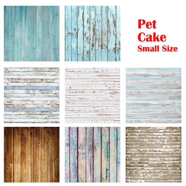 Thin Vinyl Brown Wood Floor Photography Backdrops Pet Photo Booth Backgrounds for Photographers Studio Cake Backdrop Floors