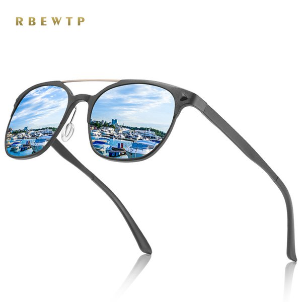 wholesale BRAND 2018 DESIGN Classic Polarized Sunglasses Women Vintage Aluminium Magnesium Frame Driving Sunglasses Men UV400