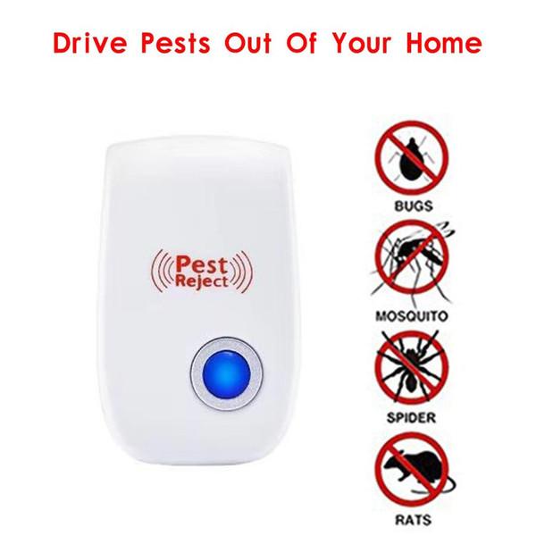 Controle de Pragas Repelente de Pragas Ultrasonic Assassino do Mosquito Eletrônico Anti Roedor Repelente de Insetos Rato Barata 5 Plugs Especificação VT0030