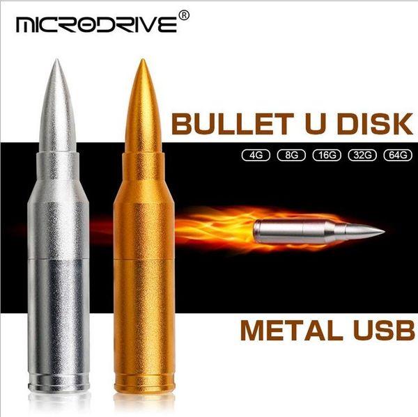 1pcs Bullet u disque mental USB 2.0 Haute vitesse belle couleur USB Flash Memory Stick Storage Drive 8 Go 32 Go 16 Go