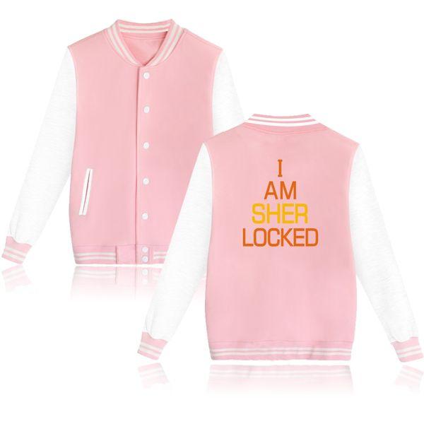 Sherklock Baseball Sweatshirts Men/Women Buttons Hoodies And Sher Locked Holmes Hoodies Womens -clothing Sweatshirt