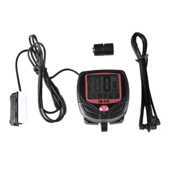 SB-318Wired Bisiklet Bisiklet Döngüsü Dijital LCD Ekran Bilgisayar Kilometre Kilometre Sayacı Kronometre Ekran Kodu Masa