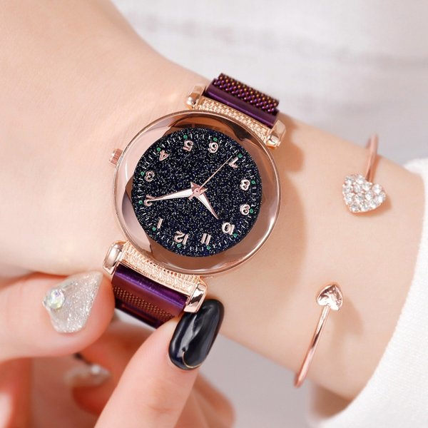 2019 Luxury Women Watches Luminous Fashion Ladies Starry Sky Magnetic Watch Casual Waterproof Female Clock Gift relogio femini