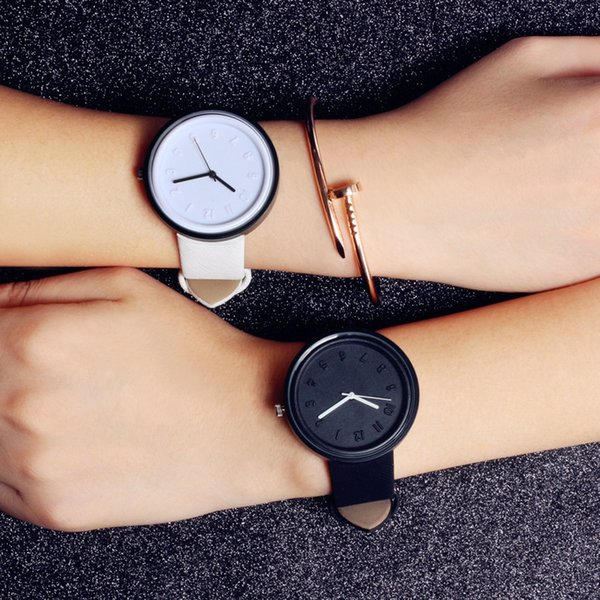 Candy Colors Couple Watches Fashion Personality Quartz Watch Denim leather strap Casual Clock Sports Wristwatches relogio