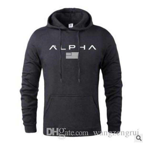Hot 2019 Herbst Und Winter Marke Aktive Sweatshirts Männer Hohe Qualität Brief Druck Kleidung Herren Gym Hoodies Mit M-XXXL
