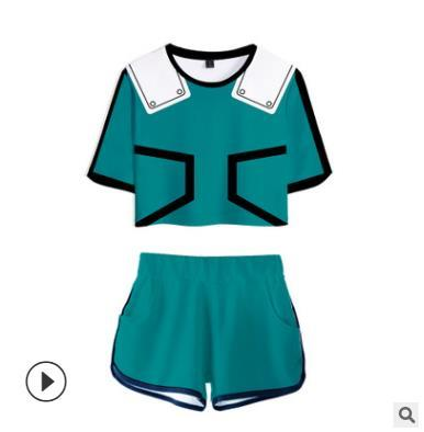 Trend di vendita a caldo Amazon Amazon My Hero Academy T-shirt a maniche corte con stampa digitale nascosta 3D