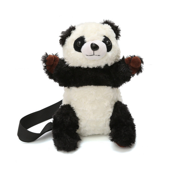Kawaii Cute Cartoon Plush Panda Shoulder Messenger Bag Women Small Fresh Black White Handbag Purse Mini Ladies Crossbody Bag New
