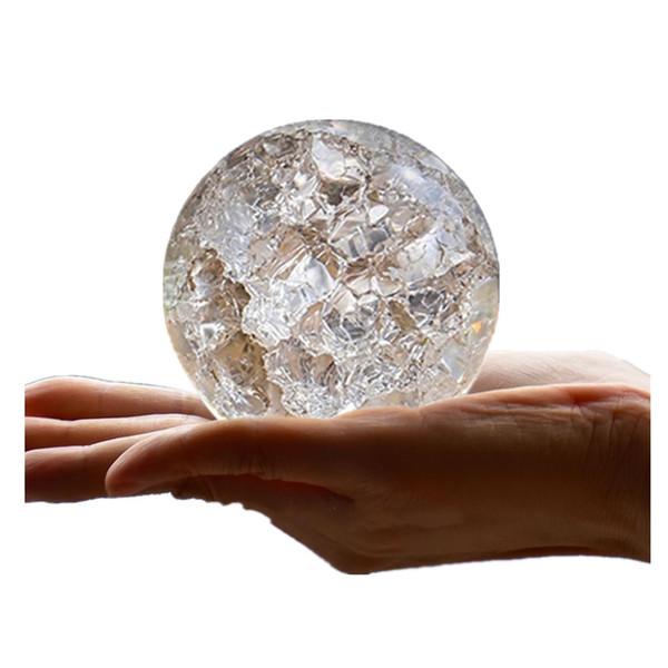 Crystal Glass Marbles Ice Crack Ball Ornaments Feng shui Home Decorative Water Fountains Bonsai Sphere Ball terrarium decor