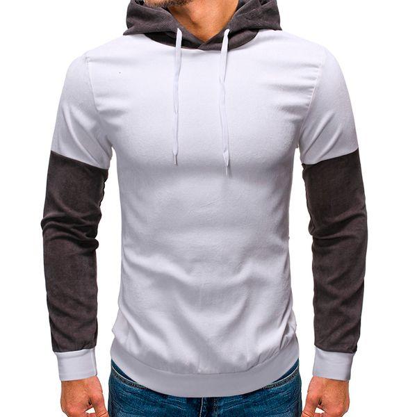 Men Leopard Sweater Pullover Tee Sweatshirt Splicing Fashion Tops Autumn Hooded