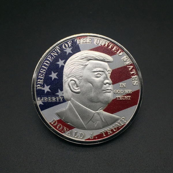 top popular Donald Trump Gold Coin Commemorative Coin Make America Great Again Coin 45th 2020 President Election Metal Badge Craft Supply VT0635 2021