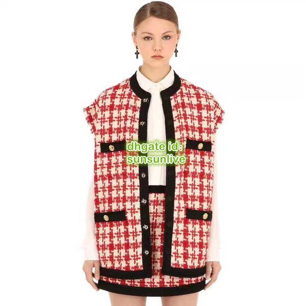 2019 женщин гусиные лапки из двух частей платье жилет без рукавов с отделкой лентой + мини-юбка девушки повседневные взлетно-посадочной полосы
