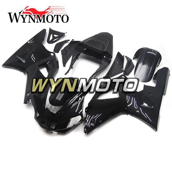 Kit de carrocería para moldeo por inyección para Yamaha YZF1000 R1 2000 2001 Cuadros de carrocería de bicicleta completos R1 00 01 Aftermarket Motocicleta OEM Casco negro brillante