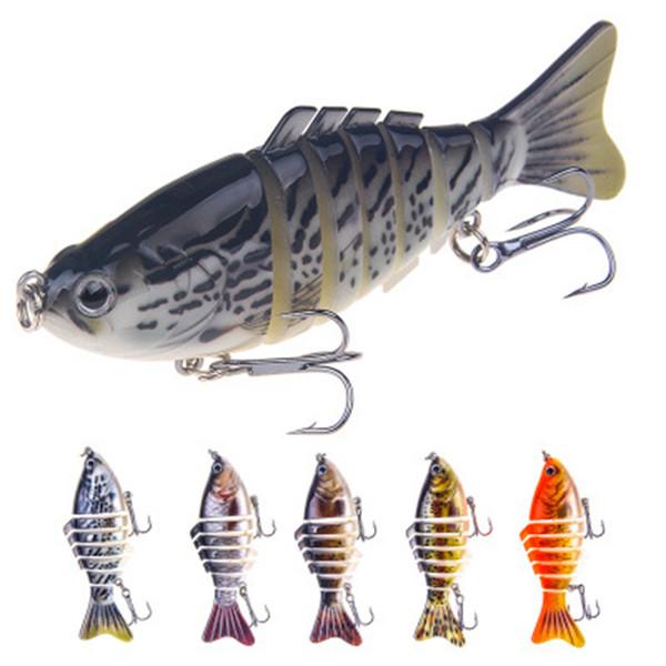 Рыболовные Приманки Тонущие Воблеры Swimbait Hard Bait Искусственные Рыболовные Снасти Приманки 7 Сегмент 10 см 16 г LJJZ259
