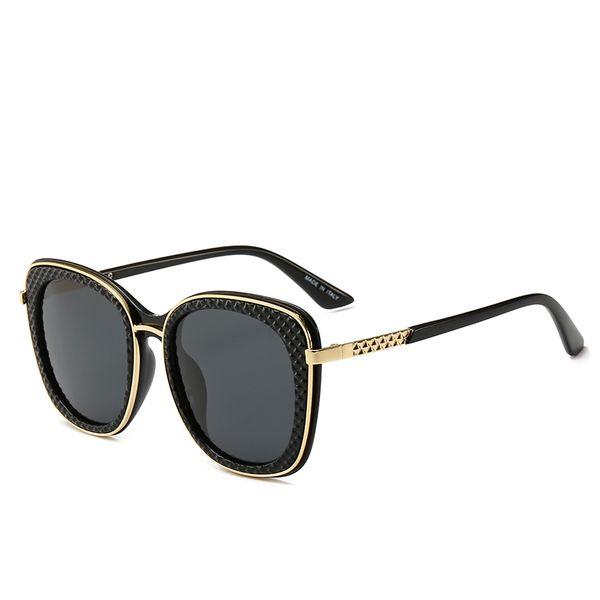 22004 new designer luxury txrppr men sunglasses square Plank Black frame Vintage Sun Glasses Oculos uv400 glass lens sunglass with box