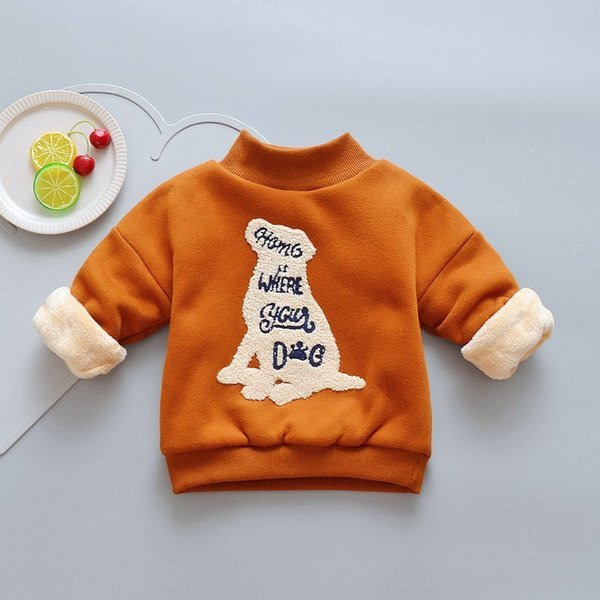 good quality autumn winter boys hoodies children cartoon pullover sweater shirt boys warm plus thick clothes sport tops for bebe