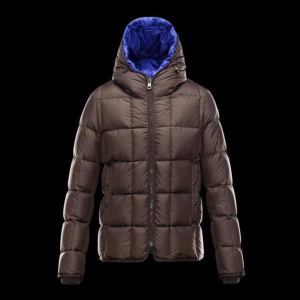 2017 Yeni Kış ceketler mens Kahverengi kaput Genç erkekler eğlence aşağı ceket Beyaz ördek aşağı sıcak ceket