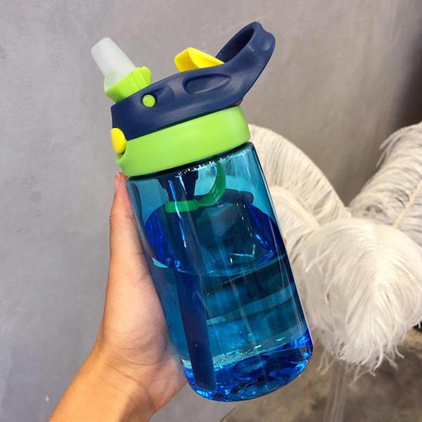Новый 500ML 4 цвета младенца воды бутылки Младенец Новорожденных Cup Дети Learn кормления Солома сок Питьевая бутылки BPA Free для детей